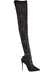 Dolce And Gabbana 105Mm Kate Stretch Lace Boots