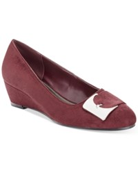 Impo Gustine Wedge Pumps Women's Shoes Burgandy