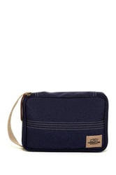 Timberland Canvas With Patch Flat Pack Travel Kit Blue