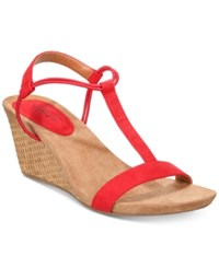 Styleandco. Style Co Mulan Wedge Sandals Created For Macy's Women's Shoes Red