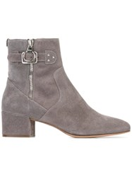 Twin Set Silver Tone Hardware Ankle Boots Grey