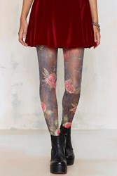 Nasty Gal Look From London Bloom With A View Crochet Tights