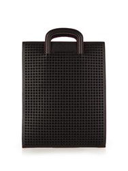 Christian Louboutin Trictrac Spikes Leather Document Holder Black