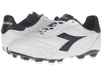 Diadora Brasil K Plus Mg 14 White Black Men's Soccer Shoes