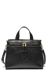 Sole Society Zypa Faux Leather Satchel Black
