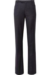 Joseph Rocker Super 100 Wool Twill Wide Leg Pants Midnight Blue