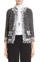 St. John Women's Collection Speckled Tweed Jacket