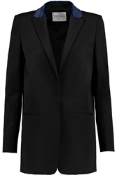 Vionnet Calf Hair Trimmed Wool Faille Blazer