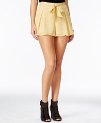 Be Bop Juniors' Metallic Shorts Gold