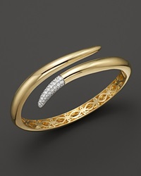 Roberto Coin 18K Yellow Gold Snake Bangle With Diamonds .60 Ct. T.W.
