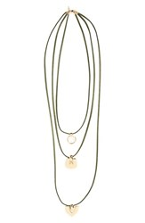 Women's Topshop Layered Cord Pendant Necklace