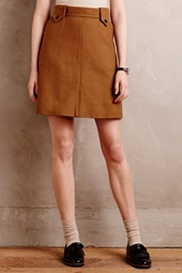 Orla Kiely Felted Wool Mini Skirt Beige