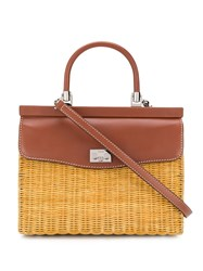 Rodo Large Basket Tote Bag Brown