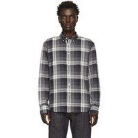 Rag And Bone Black Check Fit 2 Tomlin Shirt