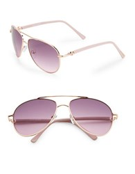 Steve Madden 57Mm Aviator Sunglasses Gold Purple