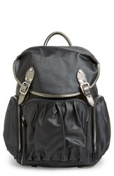 M Z Wallace Mz Wallace 'Marlena' Bedford Nylon Backpack Grey Graphite Luster