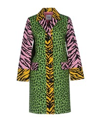 Moschino Cheap And Chic Overcoats Green