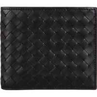 Bottega Veneta Intrecciato Billfold With Coin Pocket Black