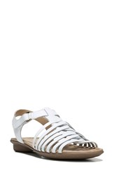Naturalizer Women's Wade Sandal White Leather