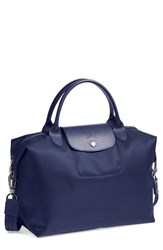 Longchamp 'Le Pliage Neo Medium' Tote Blue Navy