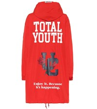 Undercover Printed Parka Red