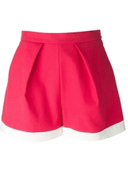 Msgm A Line Shorts Pink And Purple