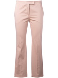 Incotex Cropped Trousers Pink Purple