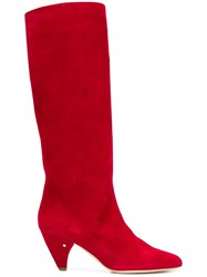 Laurence Dacade Mid Calf Length Boots Red