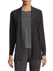 Eileen Fisher Shawl Collar Crepe Cardigan Graphite