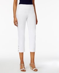 Jm Collection Petite Pull On Capris Created For Macy's Bright White