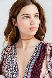 Urban Outfitters Allie Leather Choker Necklace Brown
