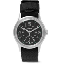 Timex Mk1 Stainless Steel And Nylon Webbing Watch Black