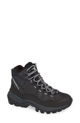 Merrell Thermo Chill Waterproof Snow Boot Black Leather