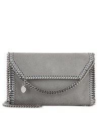 Stella Mccartney Falabella Shaggy Deer Shoulder Bag Grey
