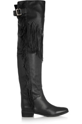 See By Chloe Fringed Leather Over The Knee Boots