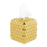 Villari Black Tie Tissue Box Gold
