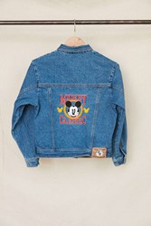 Urban Renewal Vintage Mickey Mouse Classic Embroidered Denim Jacket Assorted