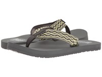 Reef Smoothy Grey Yellow Men's Sandals Gray