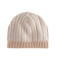 J.Crew Diamond Stitch Beanie Saddle Dusk