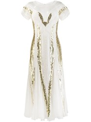 Temperley London Embroidered Cut Out Dress White