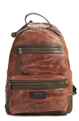 Men's John Varvatos Star Usa 'Brooklyn' Backpack Brown Cognac