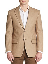 Tailorbyrd Regular Fit Solid Wool Sportcoat Camel