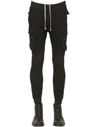 Rick Owens Stretch Cotton Denim Cargo Pants