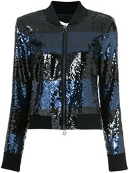 Veronica Beard Sequin Embellished Jacket Blue