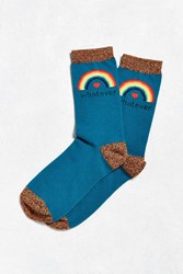 Urban Outfitters Whatever Sock Dark Turquoise