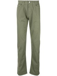 Gieves And Hawkes Straight Leg Trousers Green