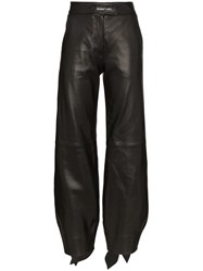 Off White High Waist Balloon Leg Trousers Black