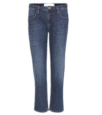 Victoria Beckham Tapered Cropped Jeans Blue