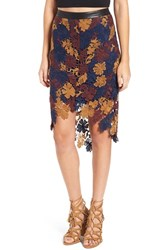 Astr Women's 'Betty' Floral Lace High Low Skirt