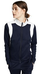 Tory Sport Colorblock Track Jacket Tory Navy Snow White